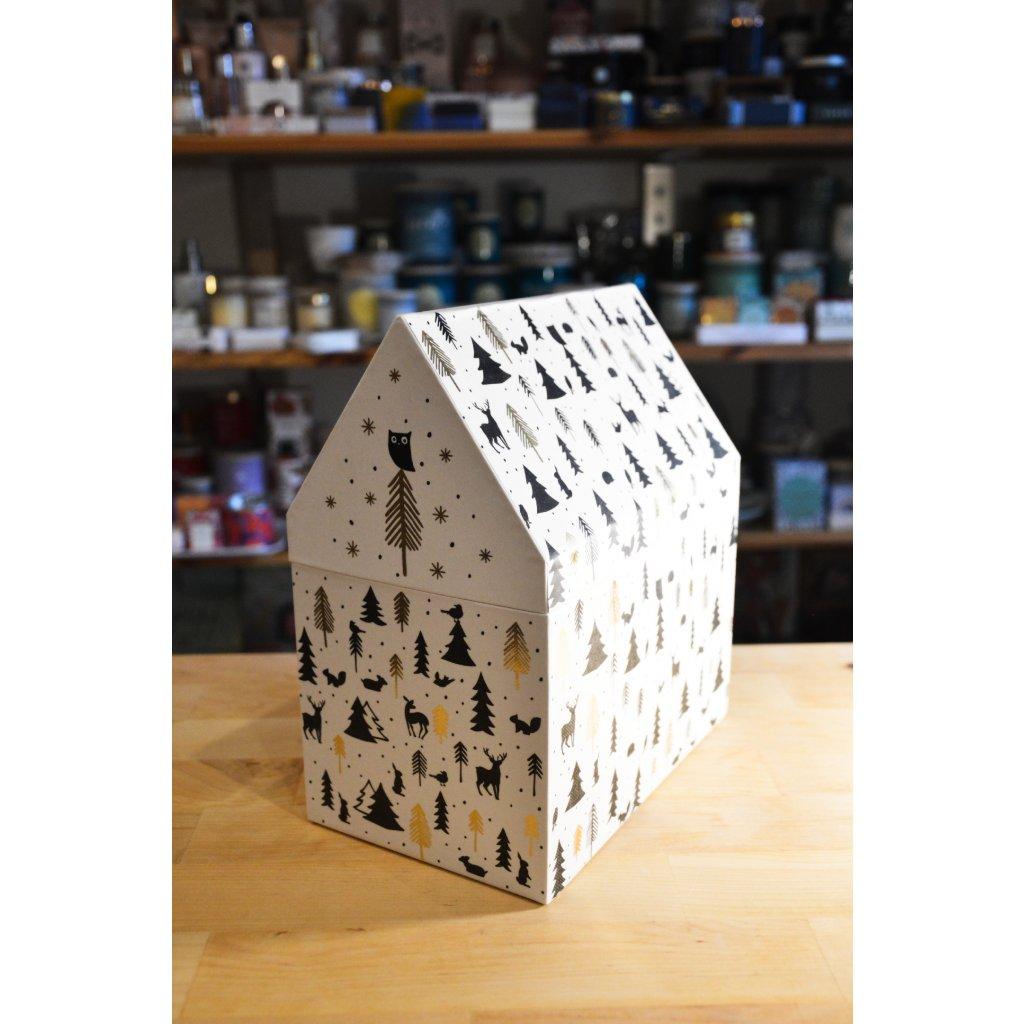 Krabička papírová velká vánoční