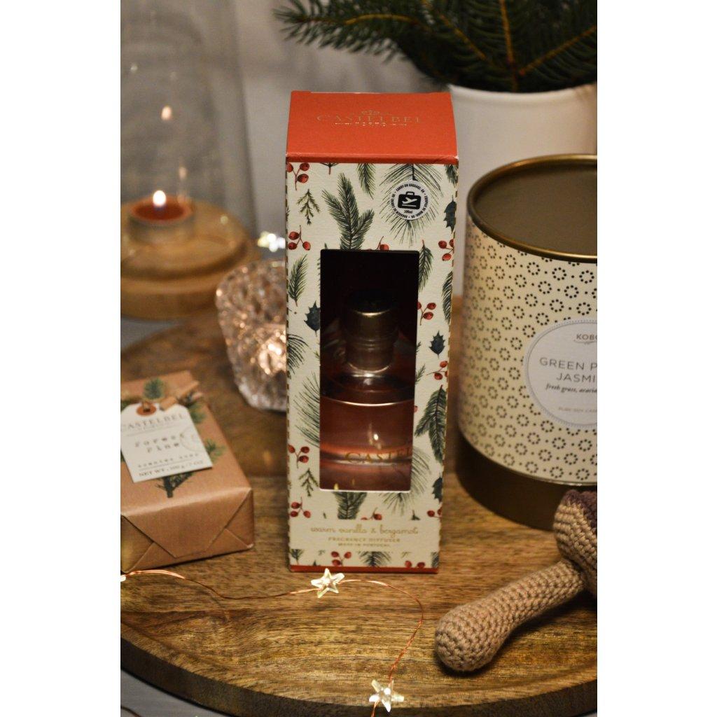 Rákosový difuzér Vánoční vanilka a bergamot
