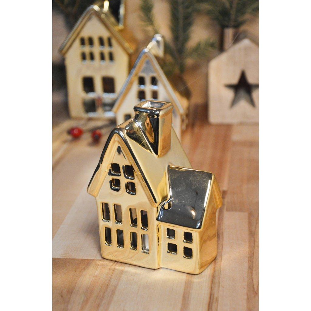 Zlatý domeček - svícen