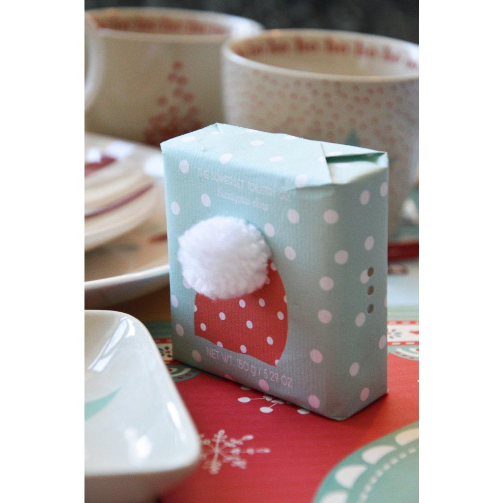 Luxusní mýdlo Vánoční modré