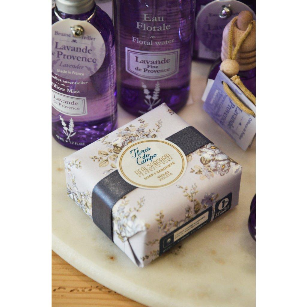 Luxusní mýdlo Fialka