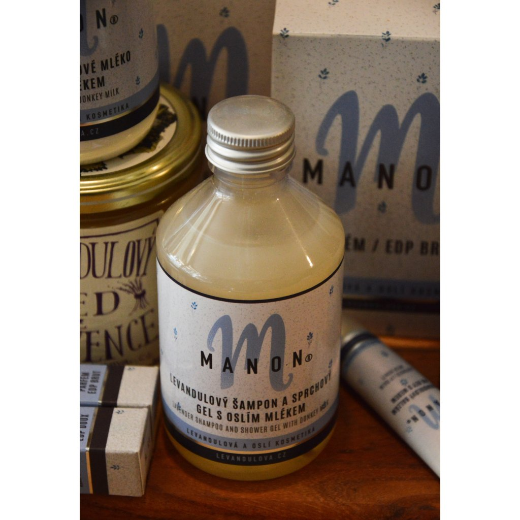 Levandulový šampon s oslím mlékem