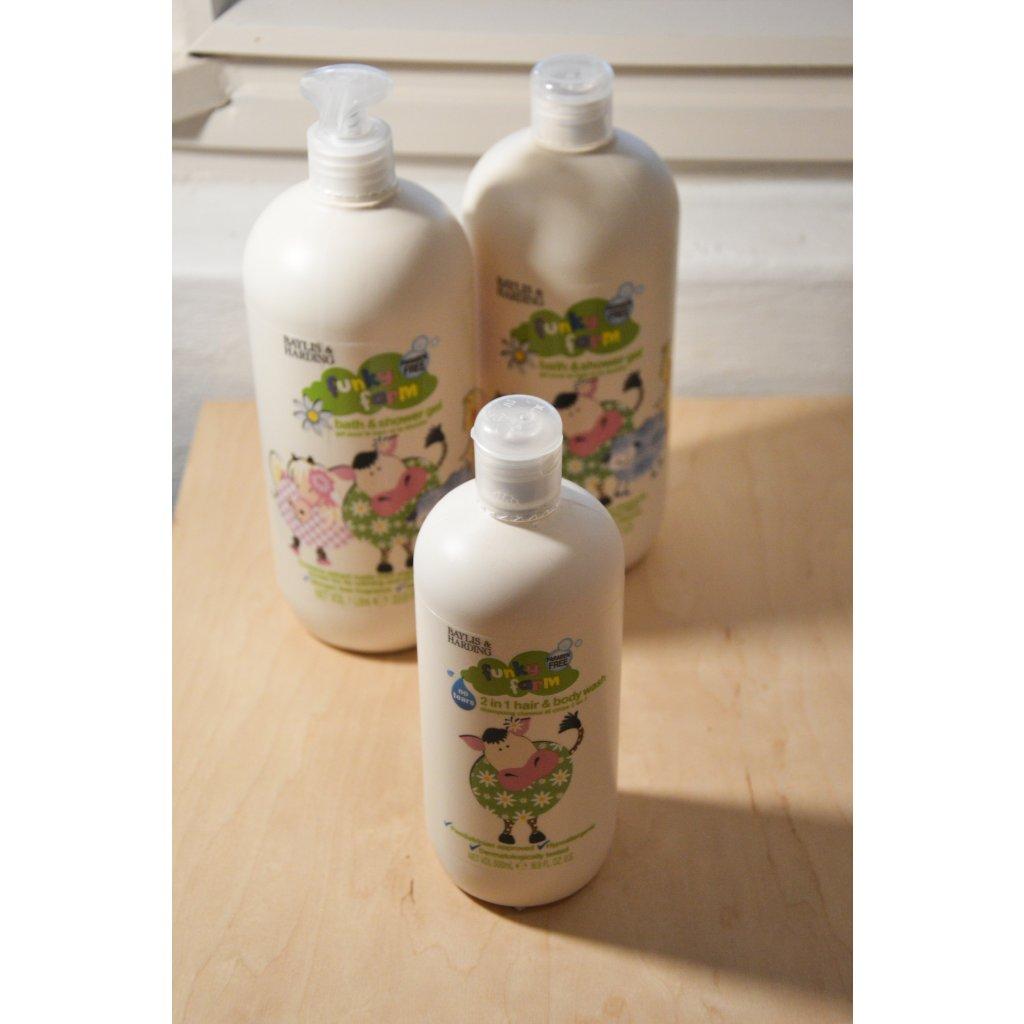 2 v 1 šampón a sprchový gel Funky Farm - Zábavná farma