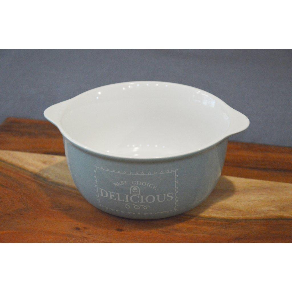 Porcelánová miska modrá Delicious