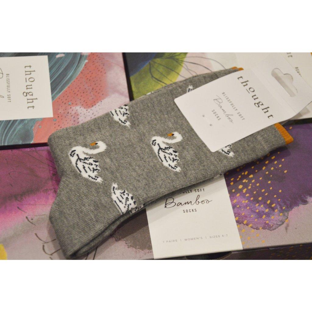 Ponožky Labuť šedé