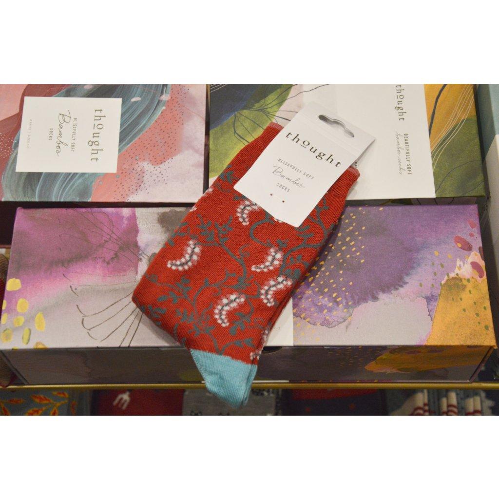 Ponožky Květiny vínové
