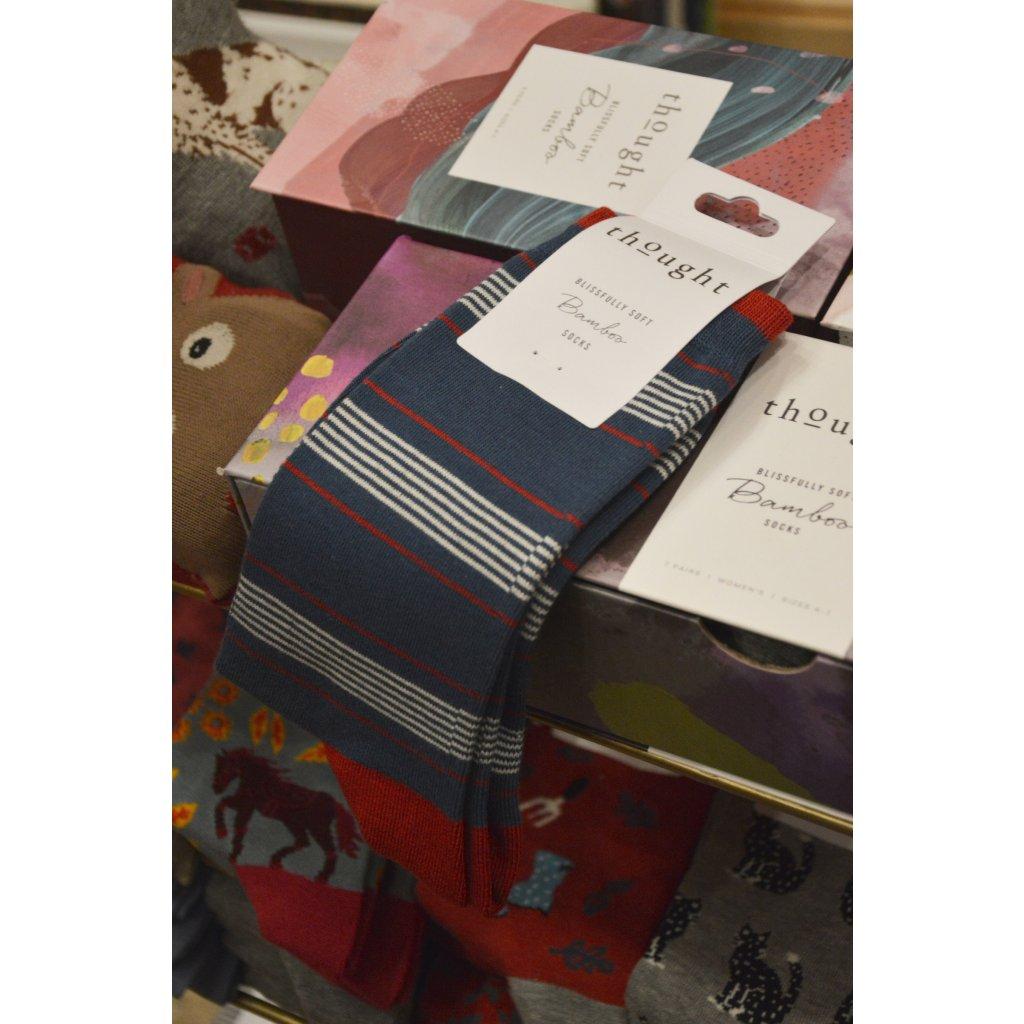 Ponožky s Proužky džínová modř