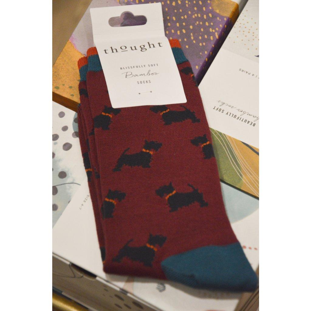 Ponožky s Kníračem borůvková