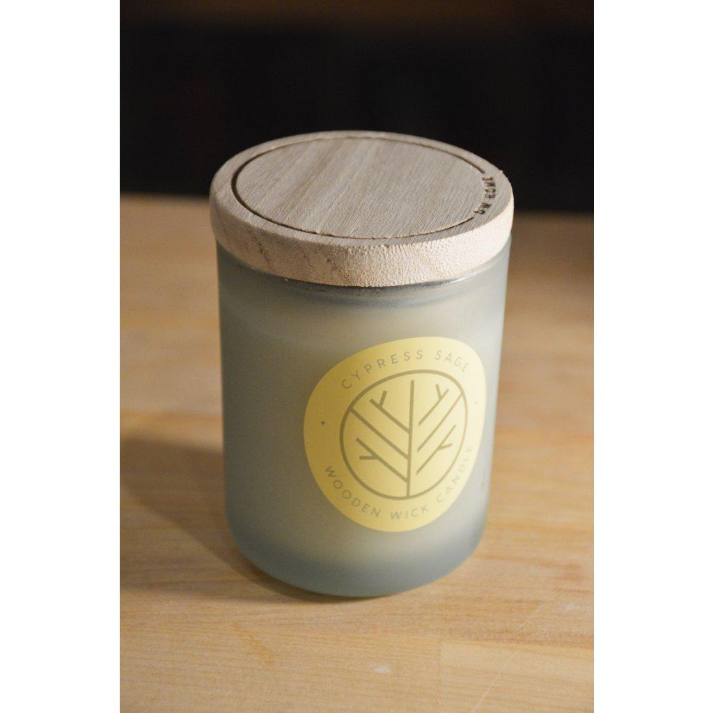 Svíčka ve skle Cypres Sage - Cypřiš a šalvěj