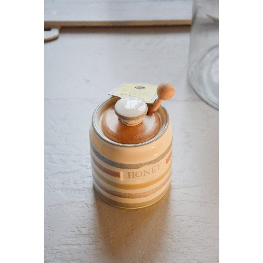Dóza keramická na med