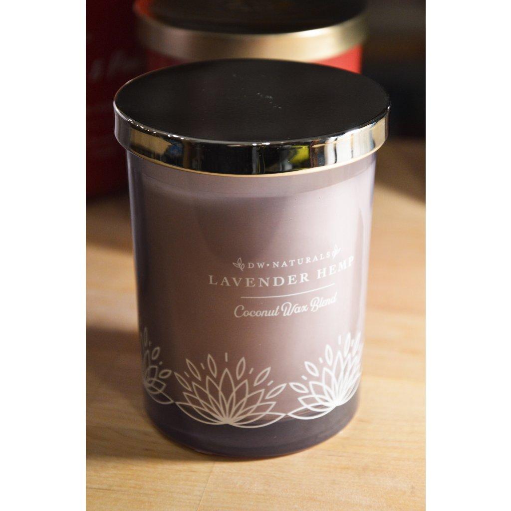 Svíčka ve skle Lavender Hemp - Levandulové konopí