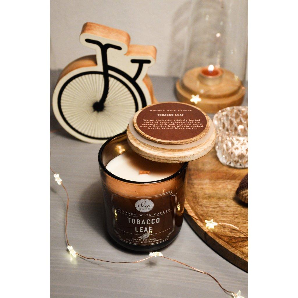 Svíčka ve skle Tobacco Leaf - Tabákový list