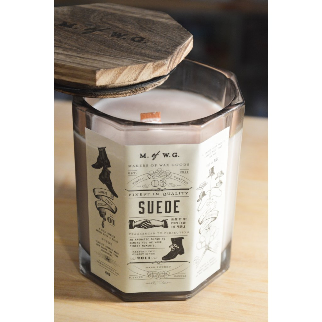 Svíčka ve skle Suede - Semiš