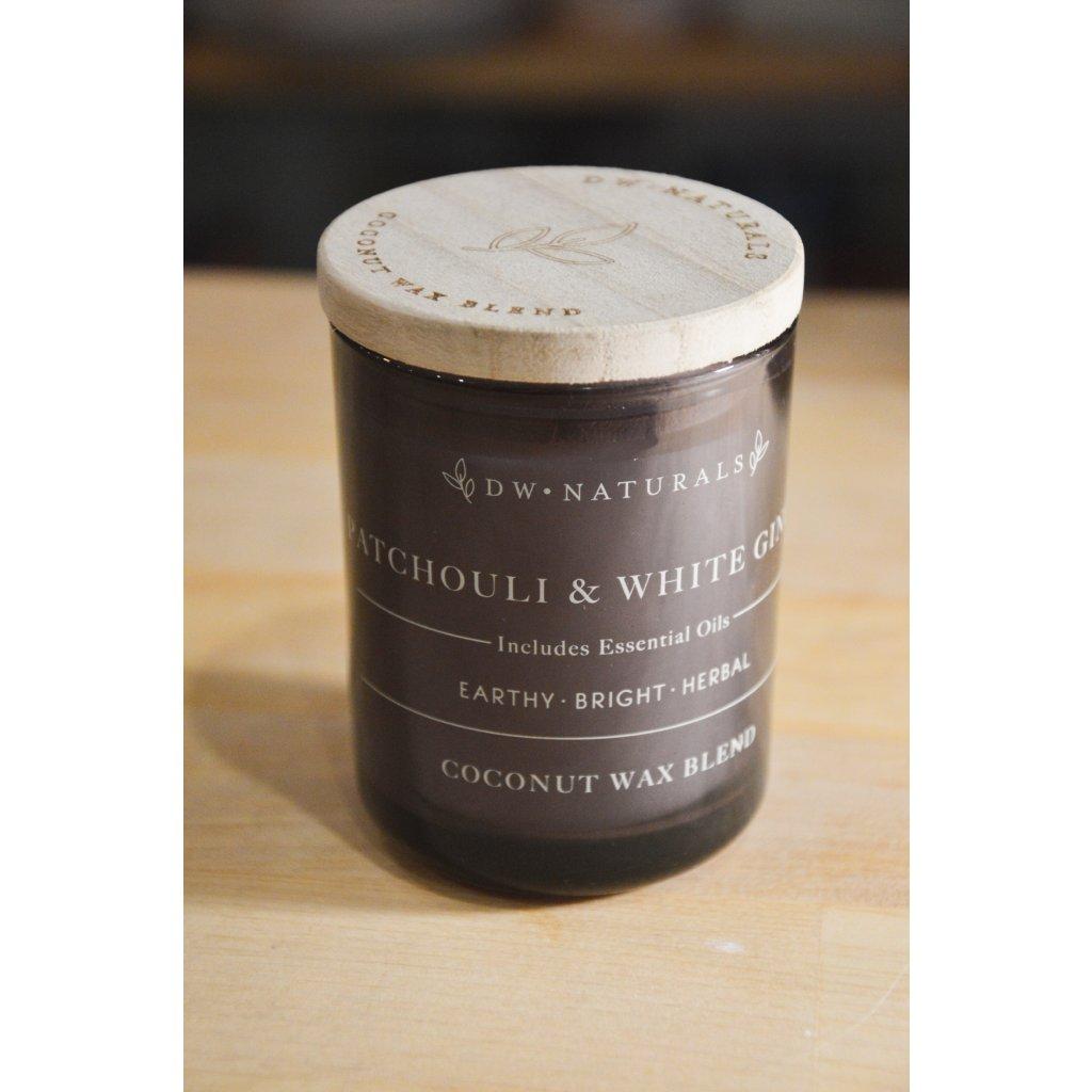 Svíčka ve skle Patchouli and White Ginger - Pačuli a bílý zázvor