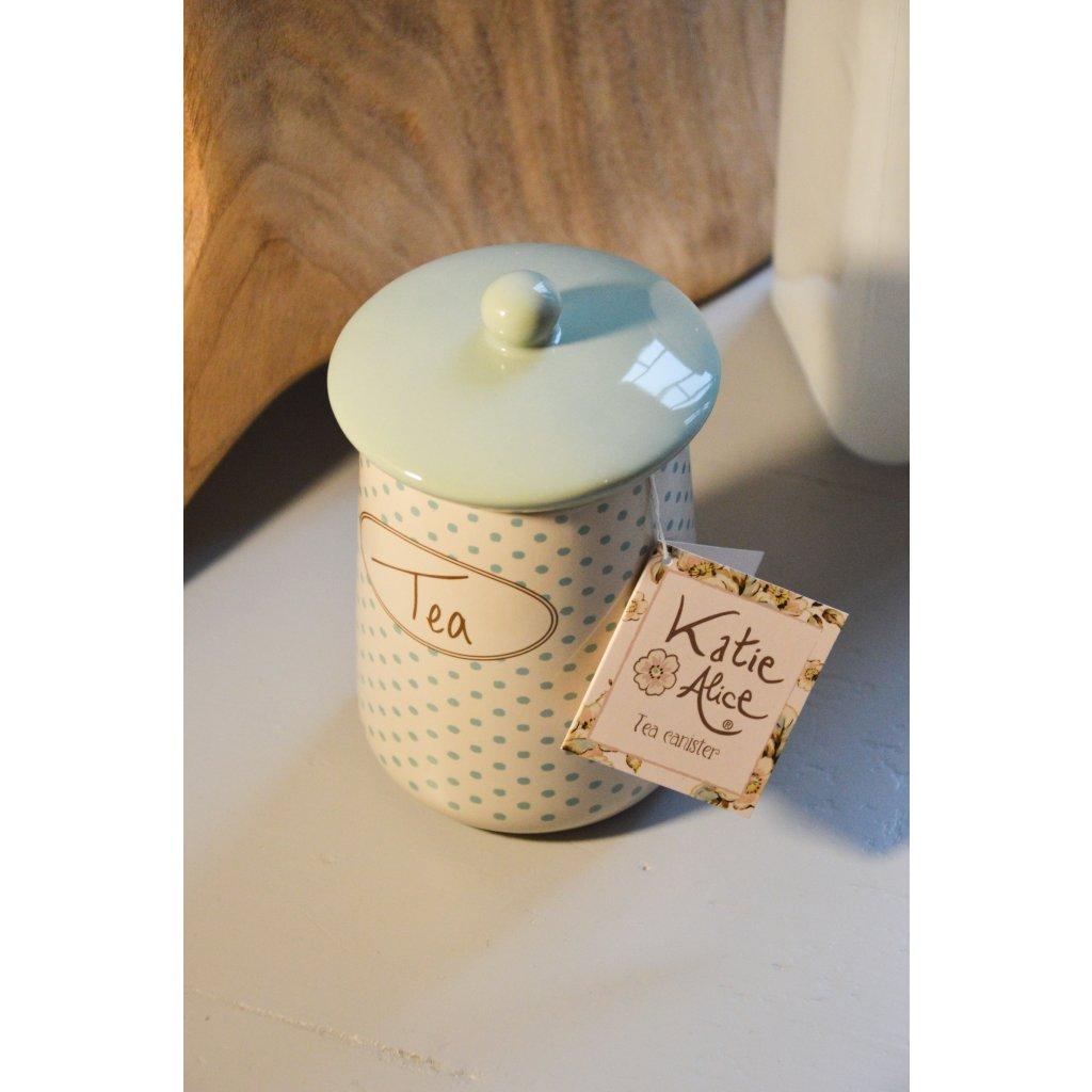Dóza keramická modrobílá Tea - Na čaj