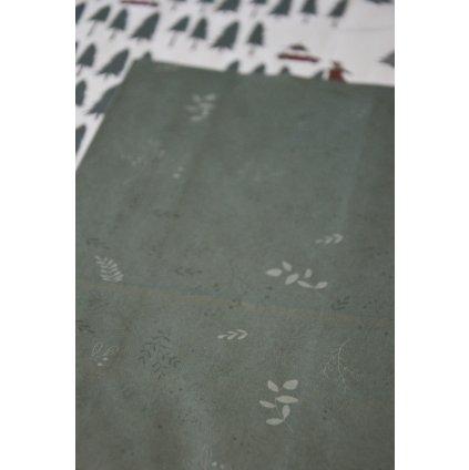 Papírový sáček Zelený s lístky