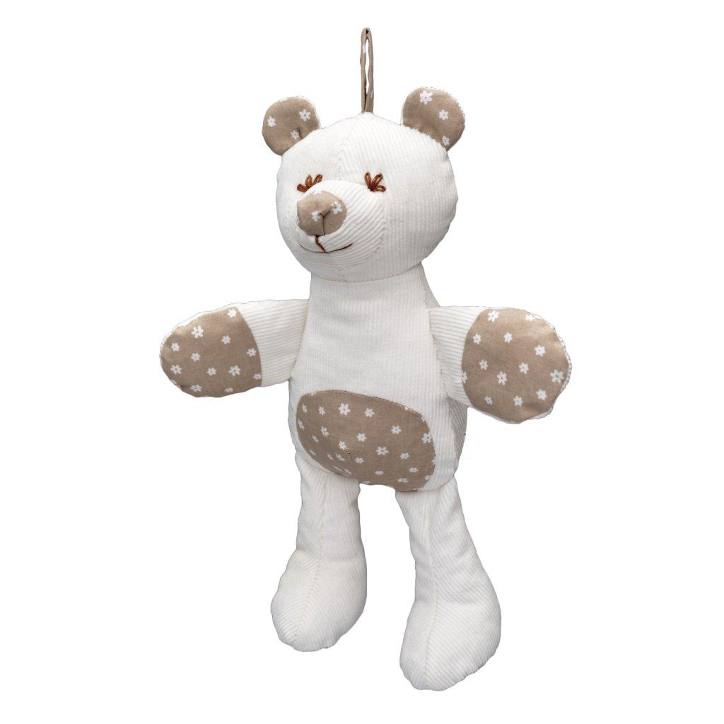 Medvěd 30 cm, MIMI (vzor kytičky)