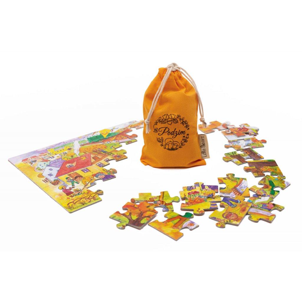 4728 little bears puzzle podzim