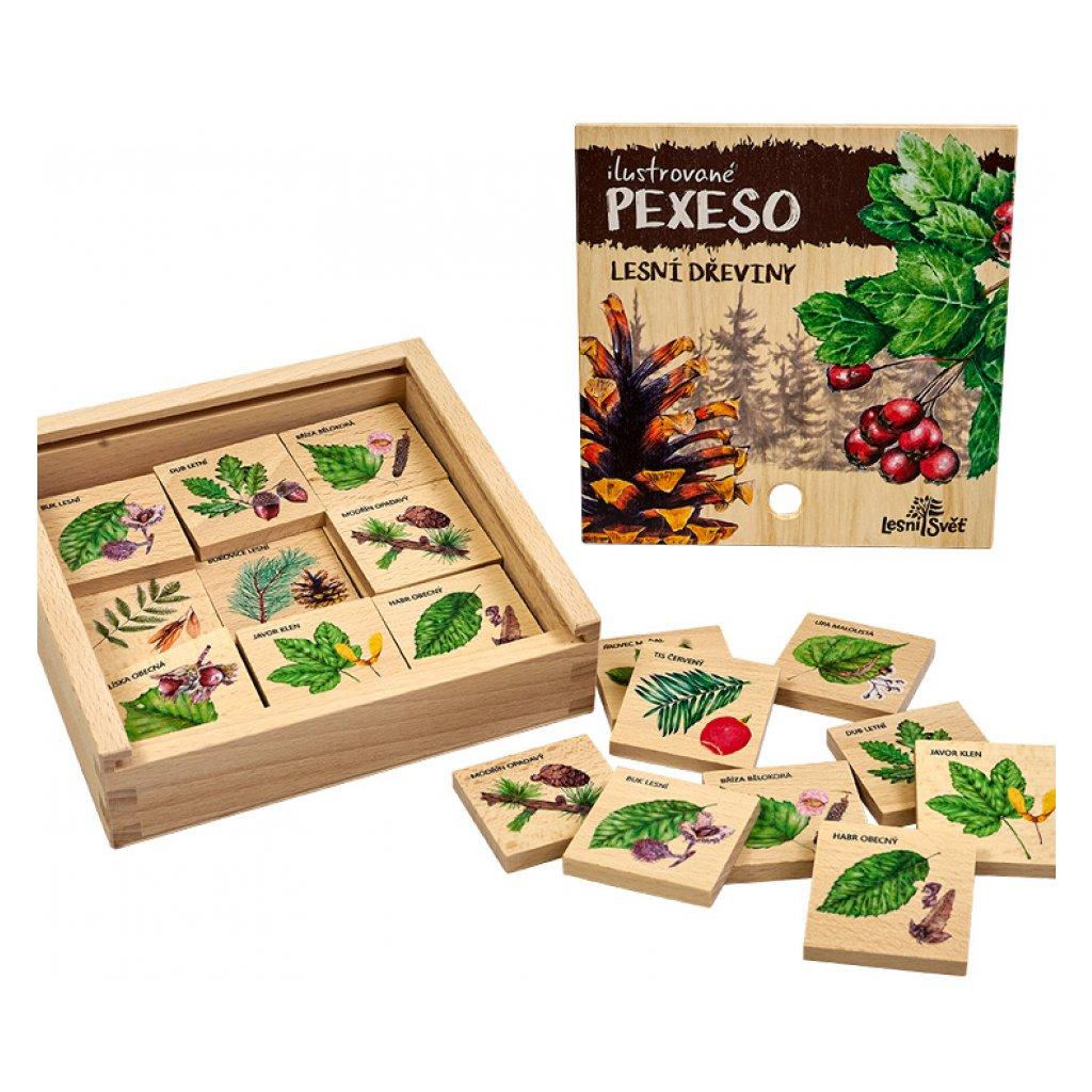 13872 pexeso klasicke lesni dreviny