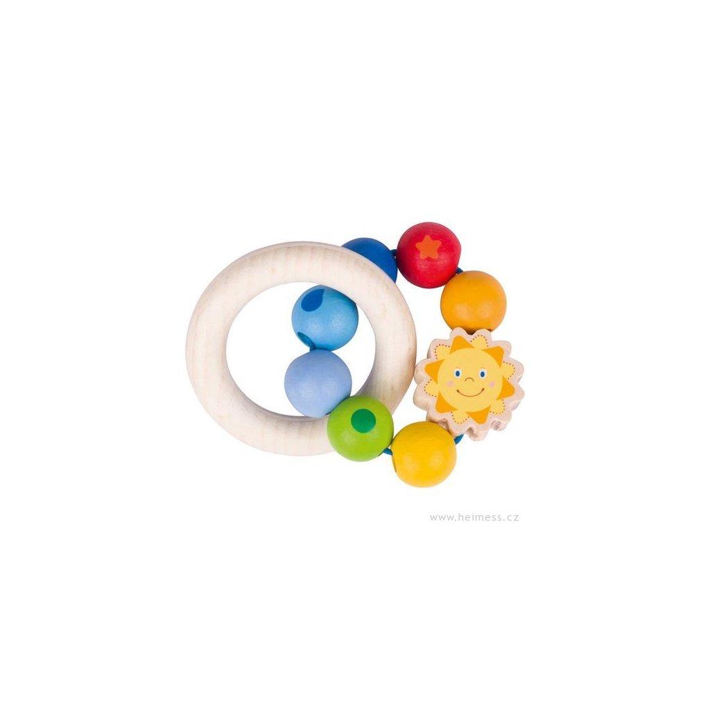 Sluníčko - dřevěná hračka pro miminka (Heimess soft colors)