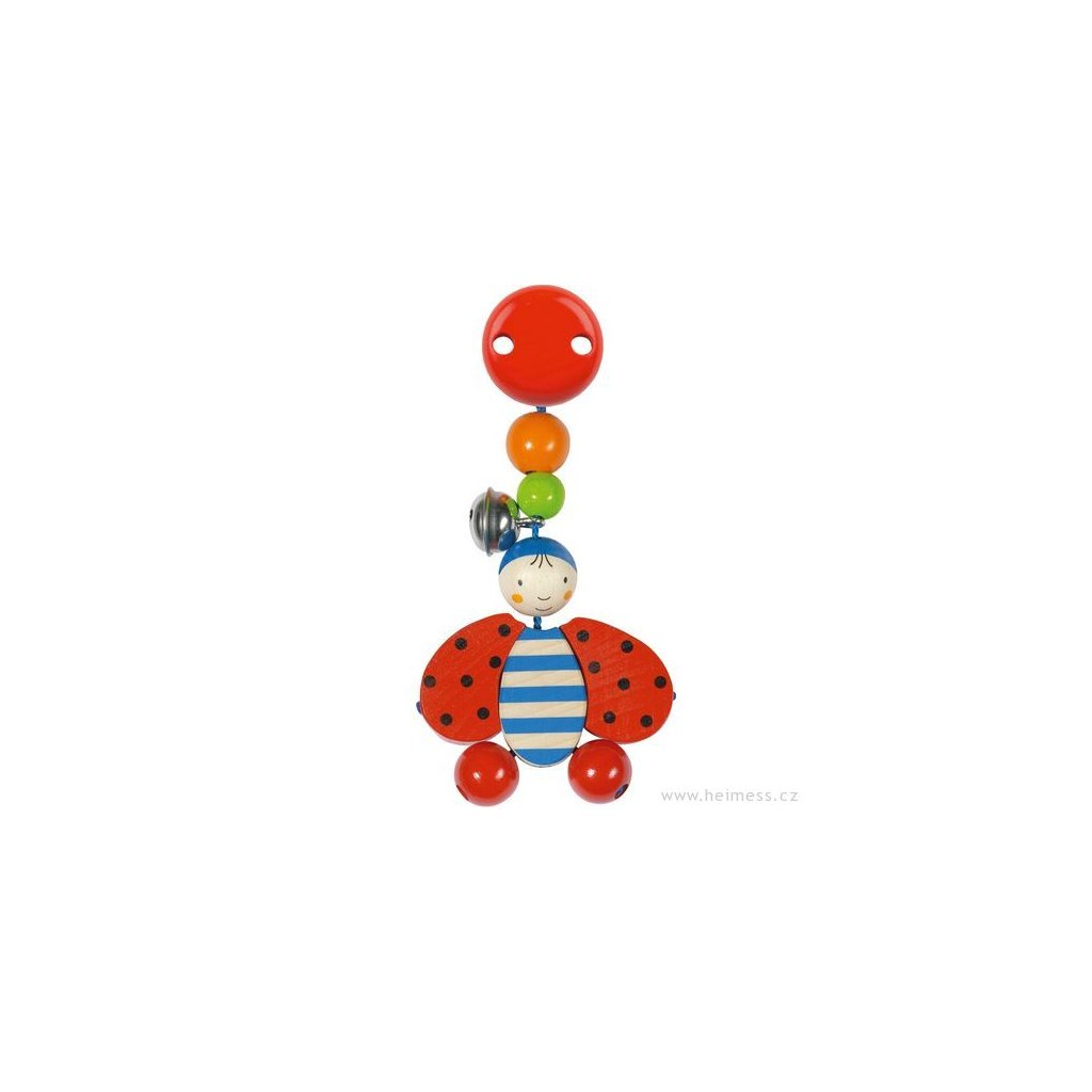 Beruška - závěsná hračka s klipem