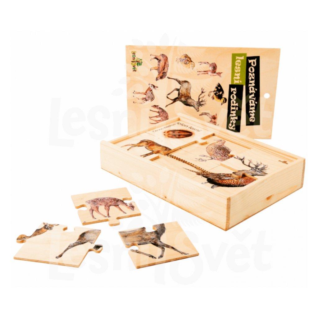 13551 puzzle lesni rodinky