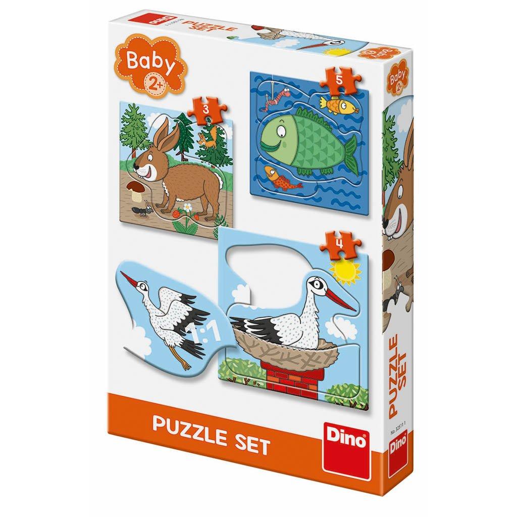 Puzzle ZVÍŘÁTKA: KDE ŽIJÍ 3-5 baby set