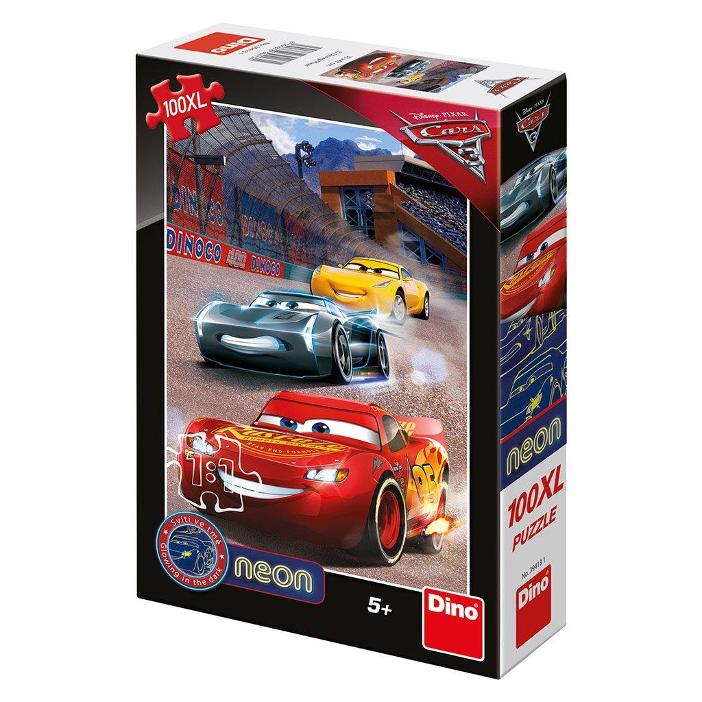 Puzzle CARS 3: VÍTĚZNÉ KOLO 100XL neon