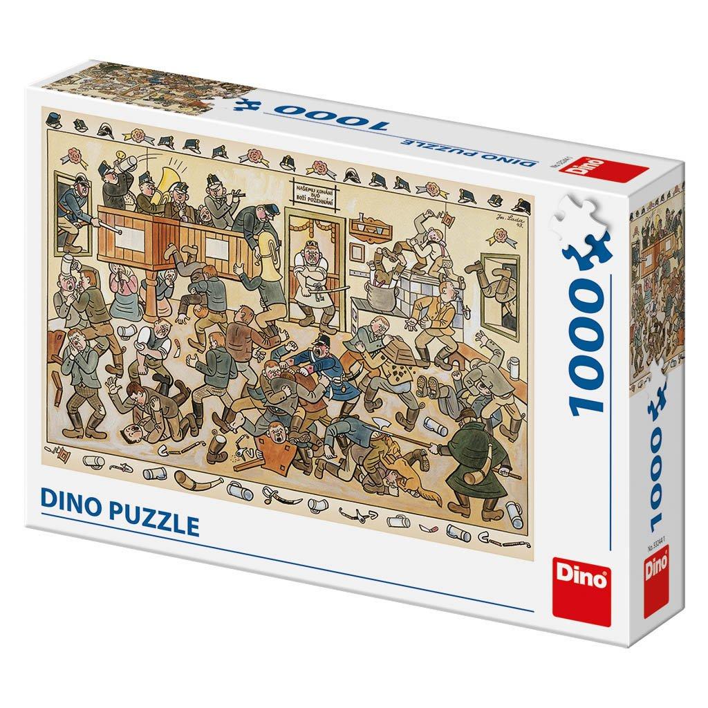 Puzzle JOSEF LADA: RVAČKA V HOSPODĚ 1000