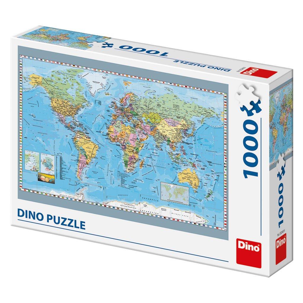 Puzzle POLITICKÁ MAPA SVĚTA 1000