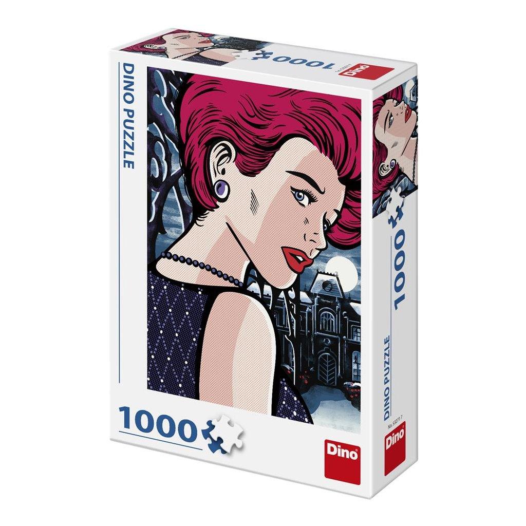 Puzzle POP ART - TAJEMNÁ ŽENA 1000