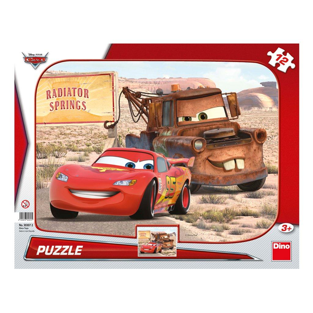 Puzzle CARS: BLESK & BURÁK 12 deskové tvary