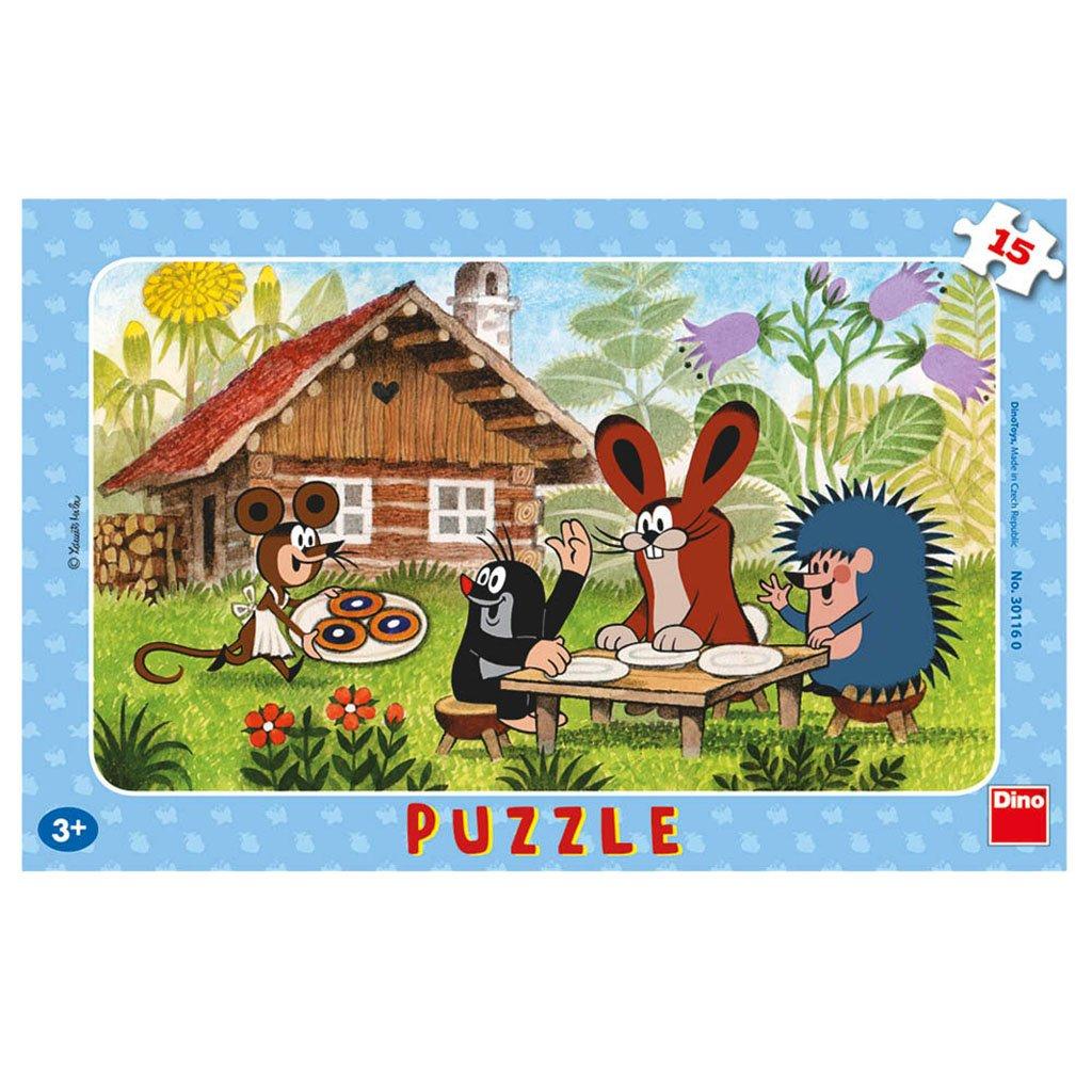 Puzzle KRTEK NA NÁVŠTĚVĚ 15 deskové