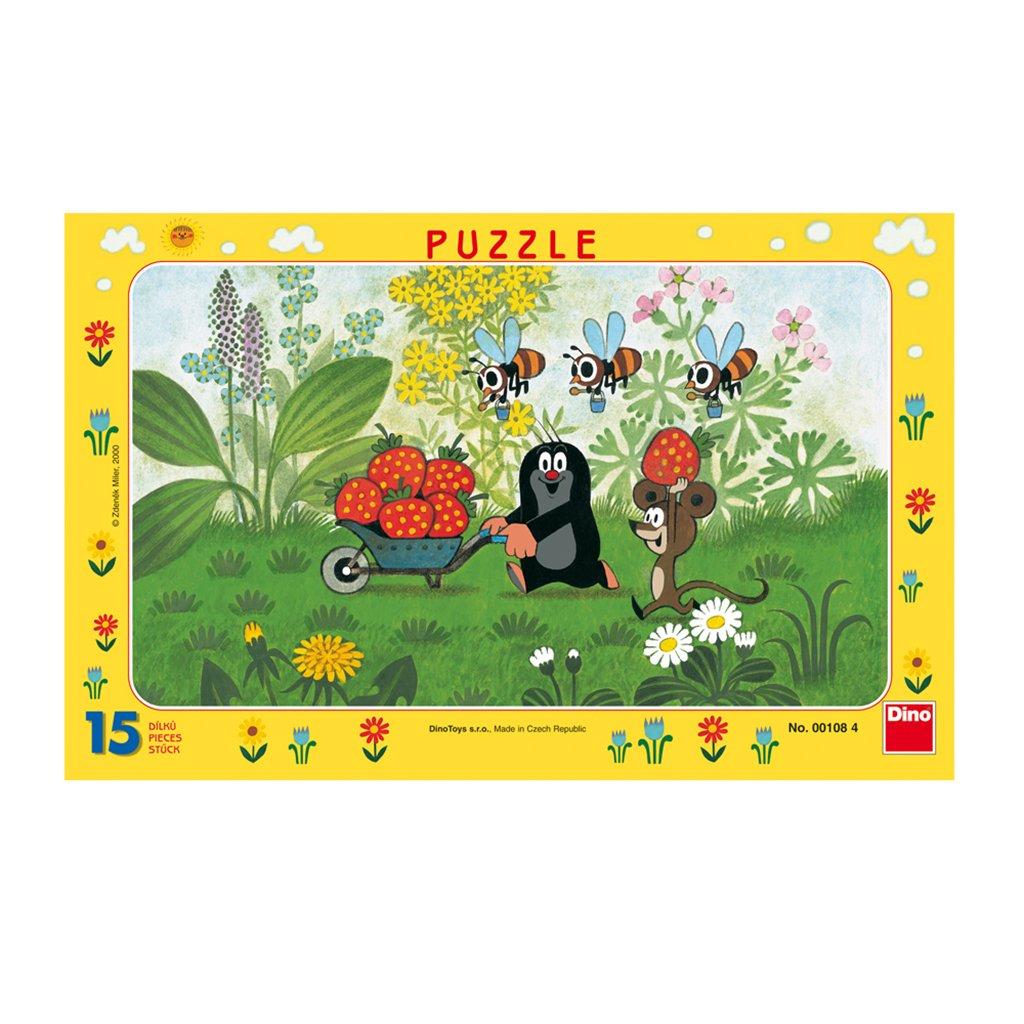 Puzzle KRTEK NA VÝLETĚ 15 deskové