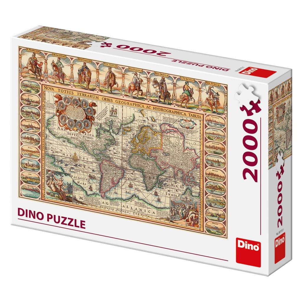 Puzzle HISTORICKÁ MAPA SVĚTA 2000