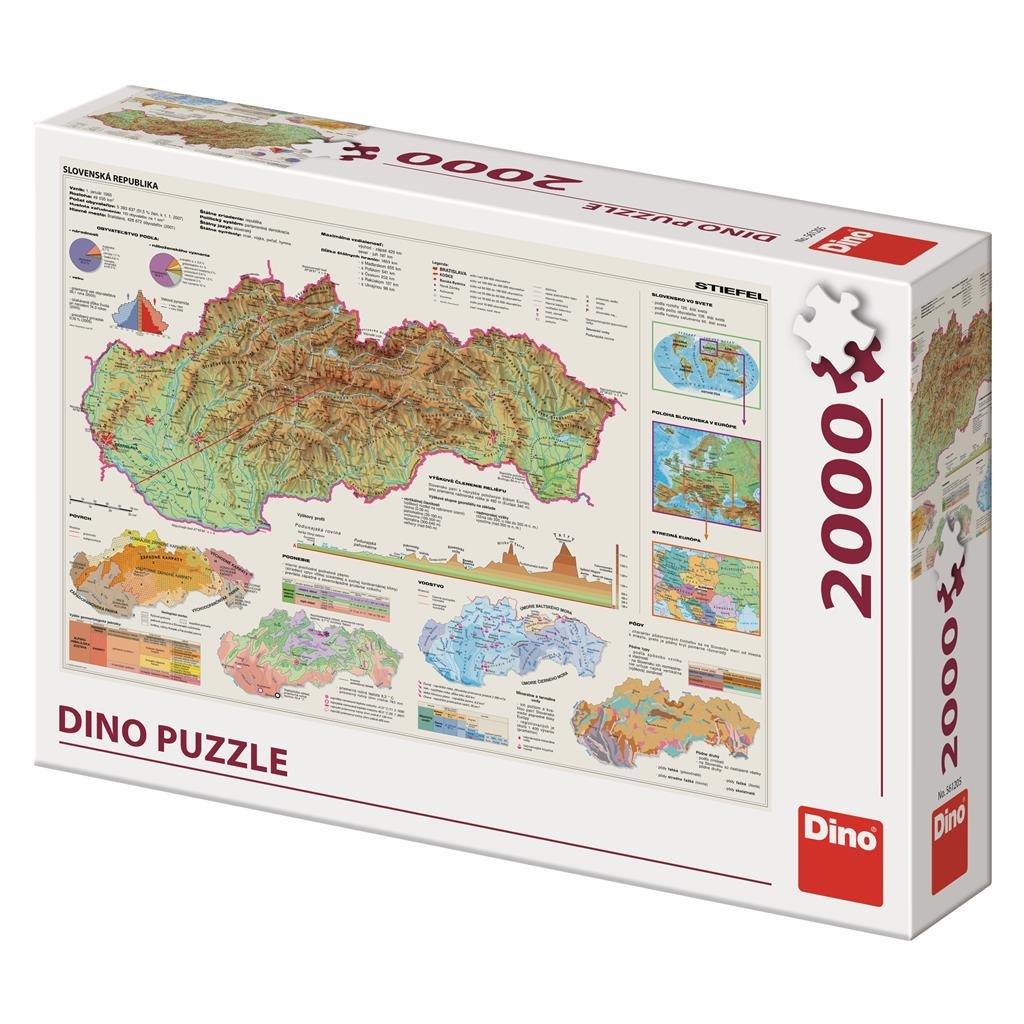Puzzle MAPA SLOVENSKA 2000