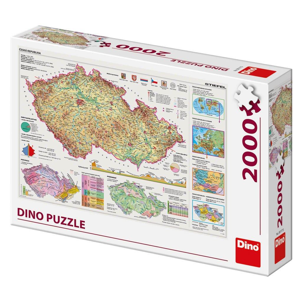 Puzzle MAPY ČESKÉ REPUBLIKY 2000