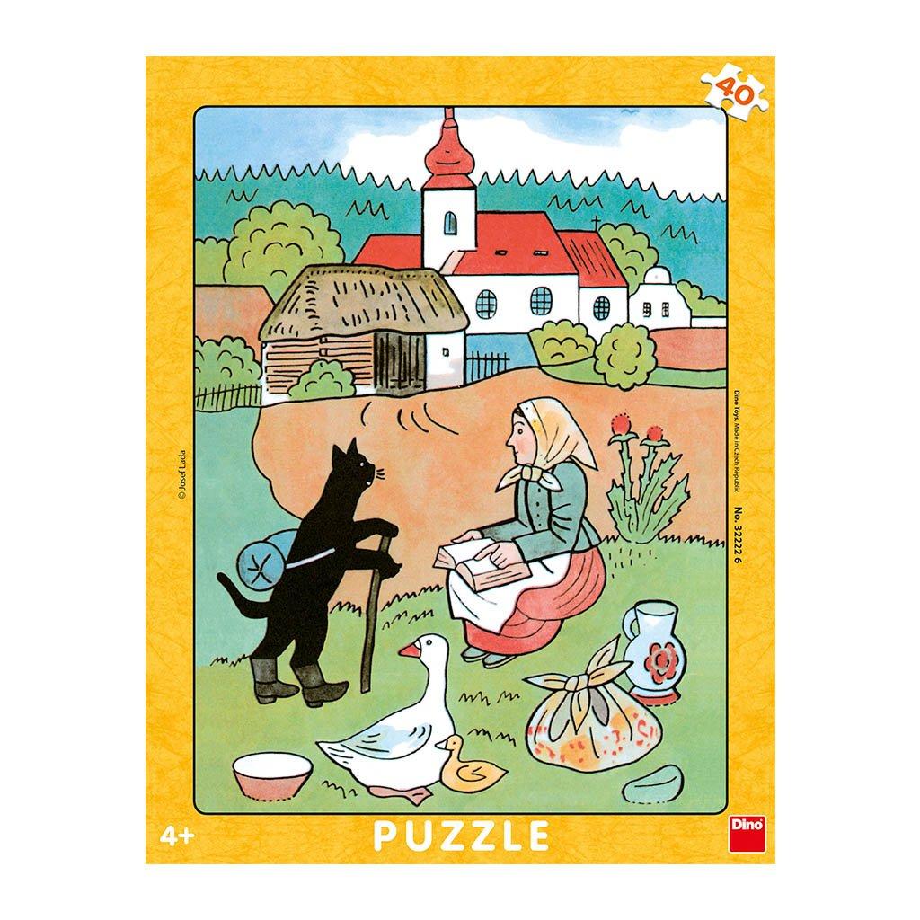 Puzzle JOSEF LADA: MIKEŠ NA VANDRU 40 deskové