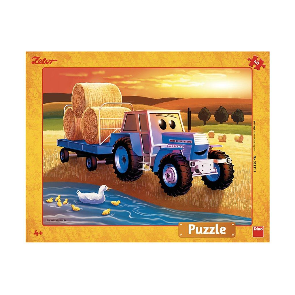 Puzzle ZETOR: ŽNĚ 40 deskové