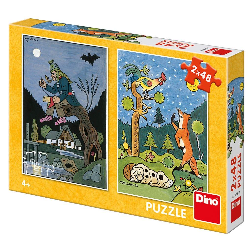 Puzzle JOSEF LADA: POHÁDKY 2x48