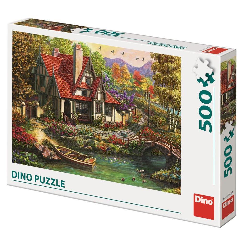 Puzzle CHATA U JEZERA 500
