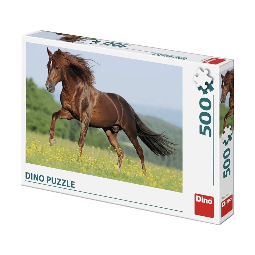 Puzzle KŮŇ NA LOUCE 500