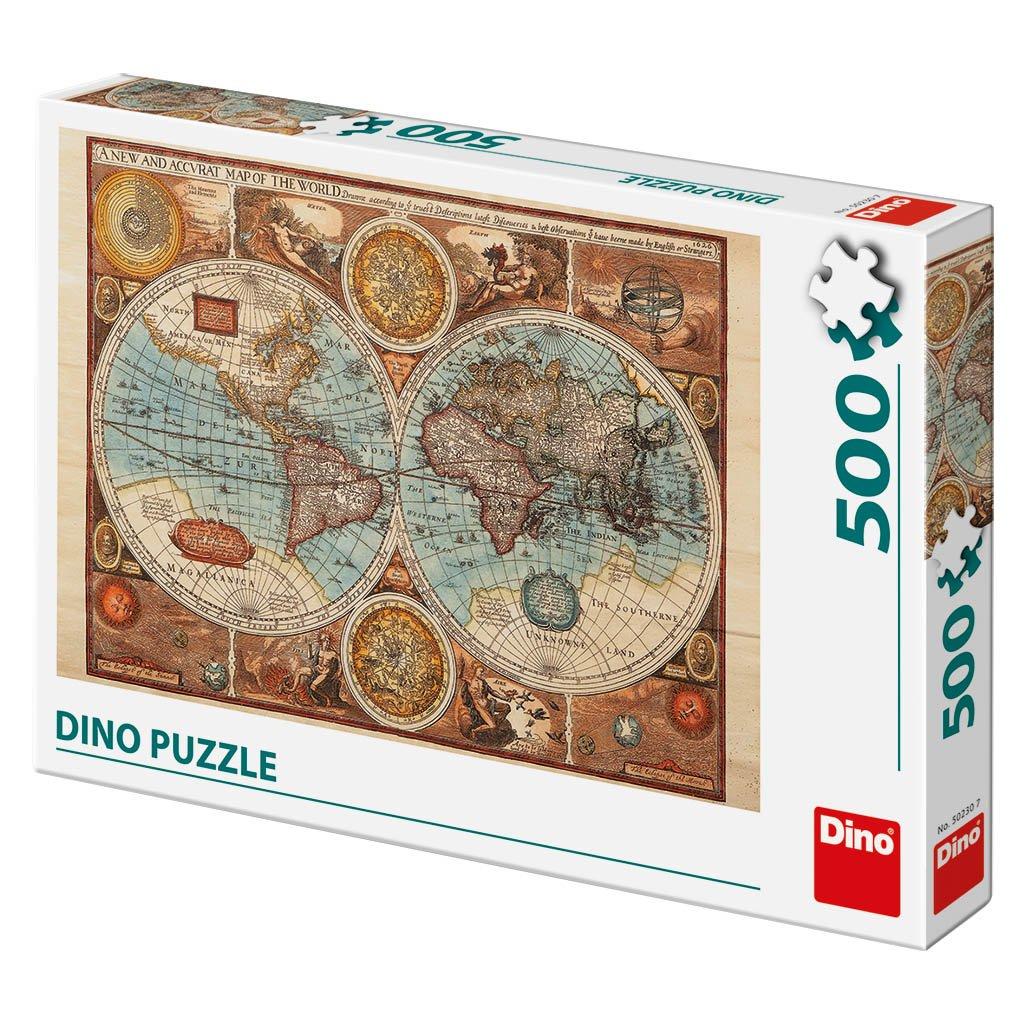 Puzzle MAPA SVĚTA Z R. 1626 500