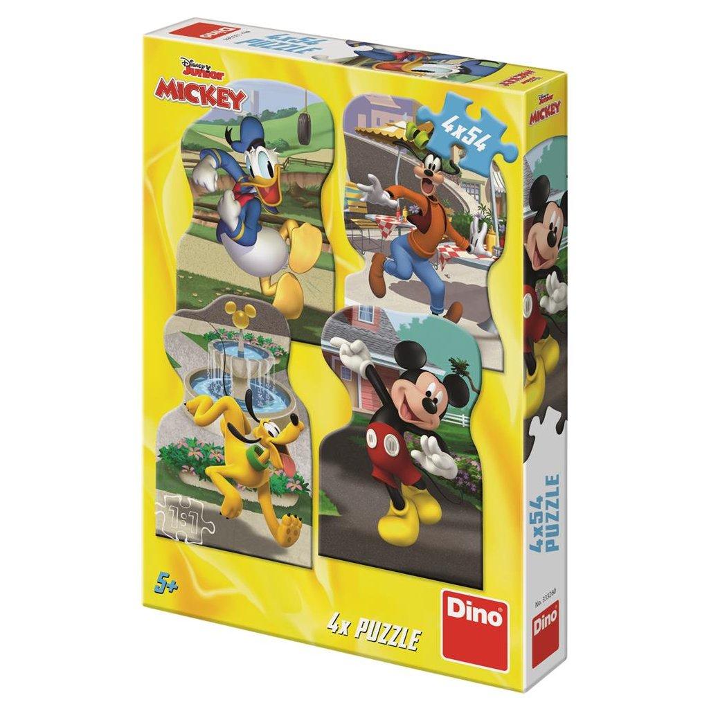 Puzzle MICKEY VE MĚSTĚ 4x54