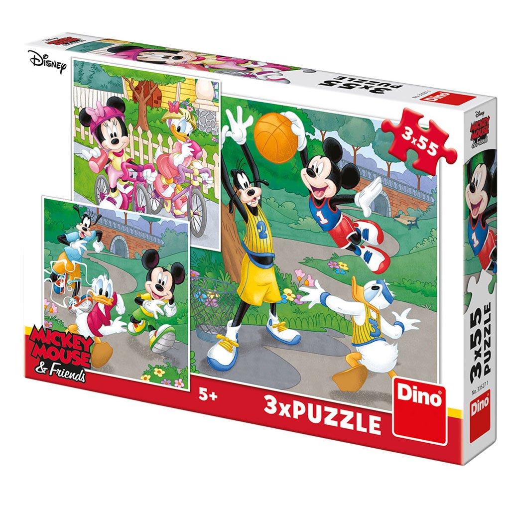 Puzzle MICKEY A MINNIE SPORTOVCI 3x55