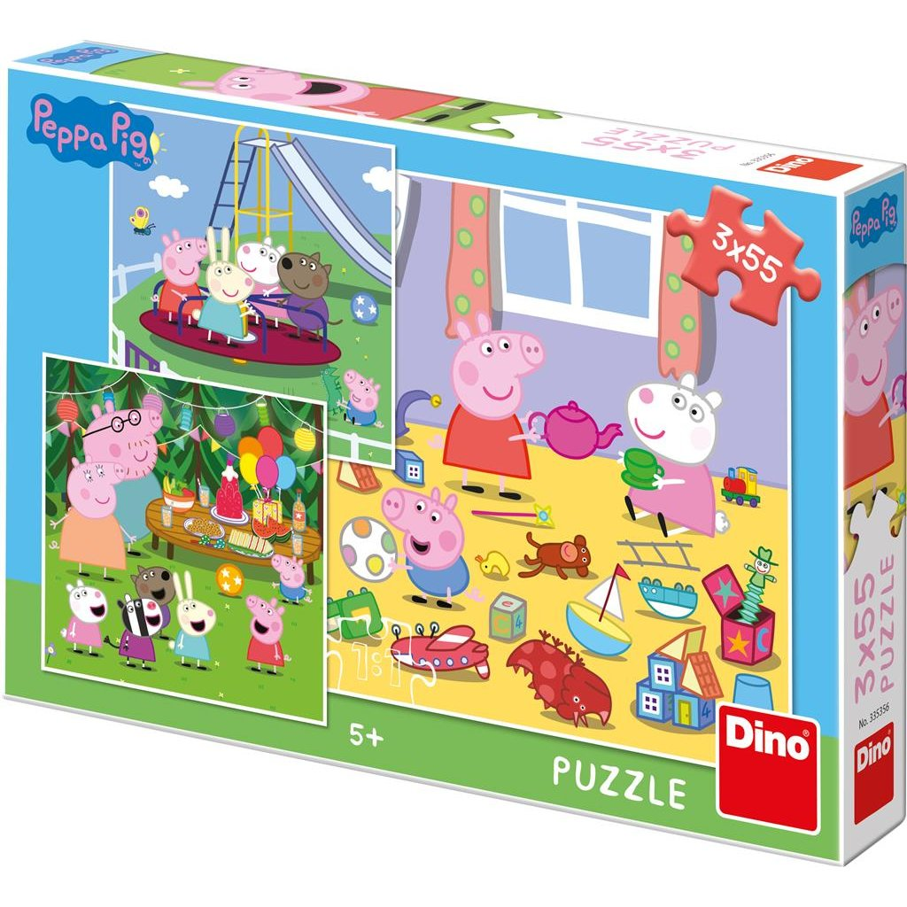 Puzzle PEPPA PIG NA PRÁZDNINÁCH 3x55