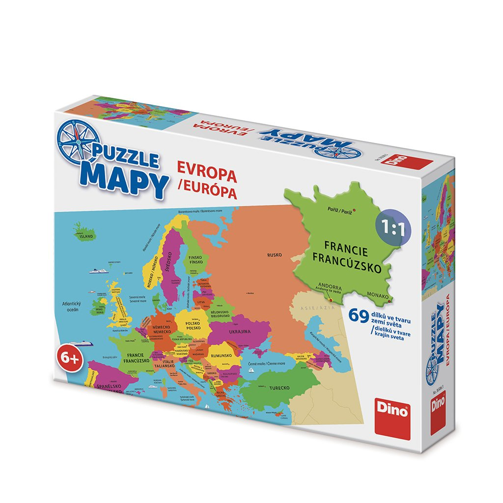 Puzzle MAPY EVROPA 69