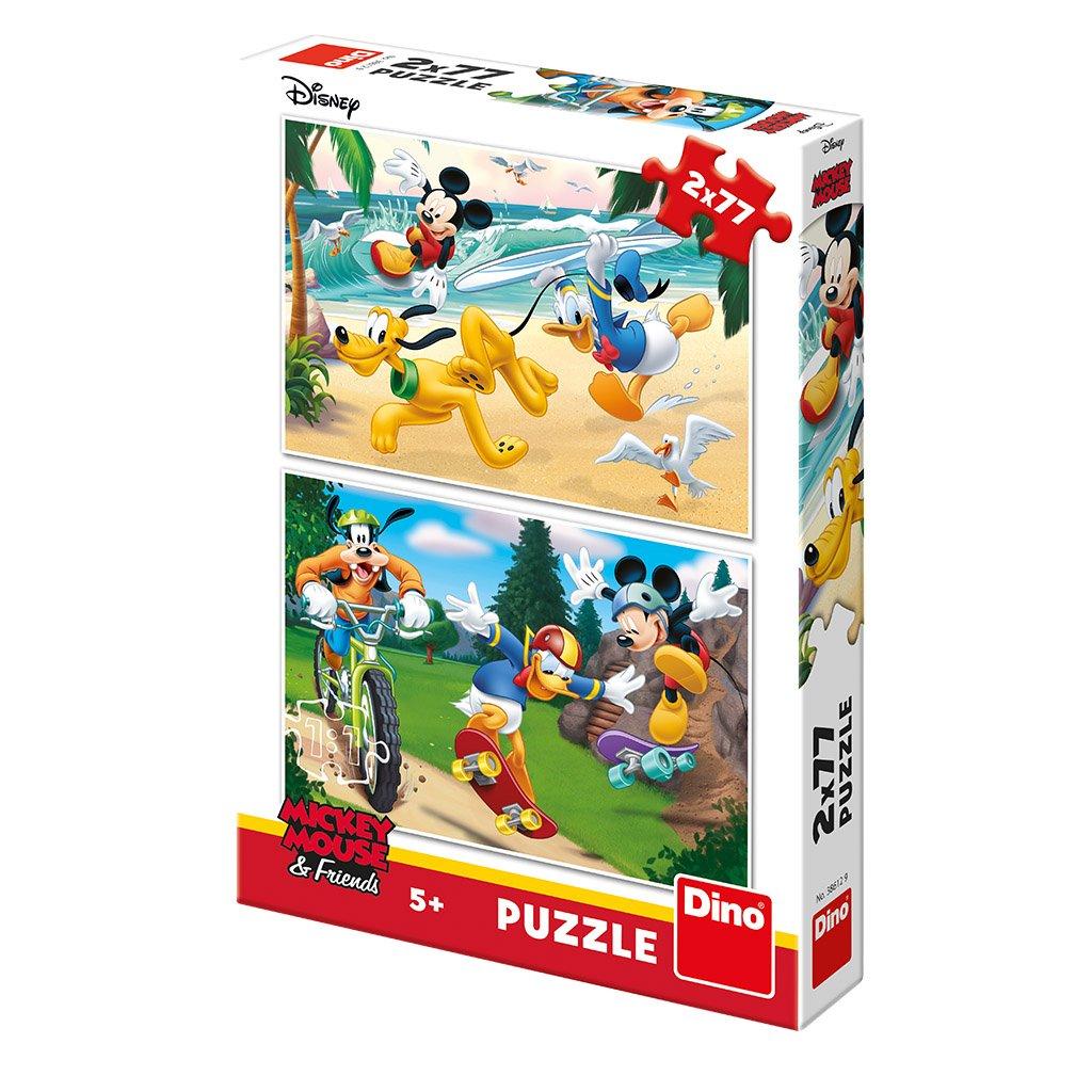 Puzzle MICKEY SPORTUJE 2x77