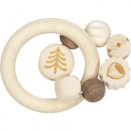 15204 drevena hracka pro miminka dva krouzky orisek
