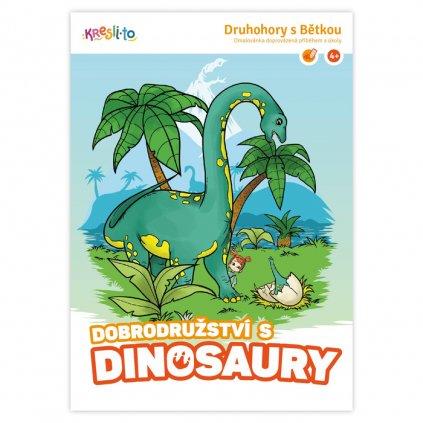 15336 dobrodruzstvi s dinosaury omalovanka doprovazena pribehem a ukoly